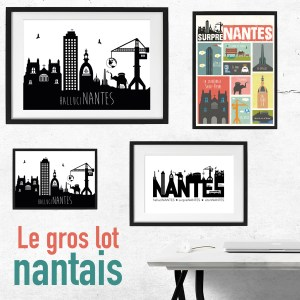 Lot d'affiche nantes décoration