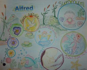 Le parcours de la naissance de ma petite grenouille, Alfred