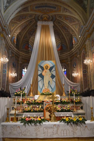 Altare maggiore della Basilica di San Nicola a Tolentino - Pasqua 2014