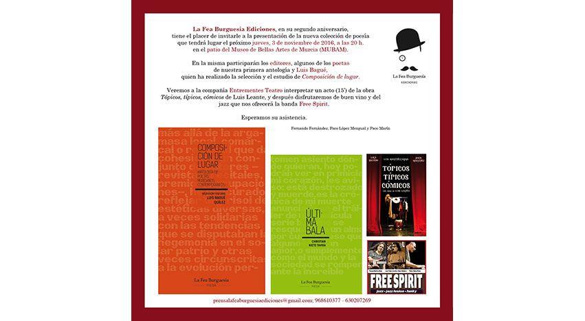 Presentación de nueva colección de poesía