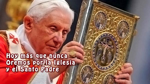 Orar po Benedicto XVIy la Iglesia