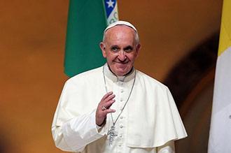 Llegada del Papa Francisco a Brasil