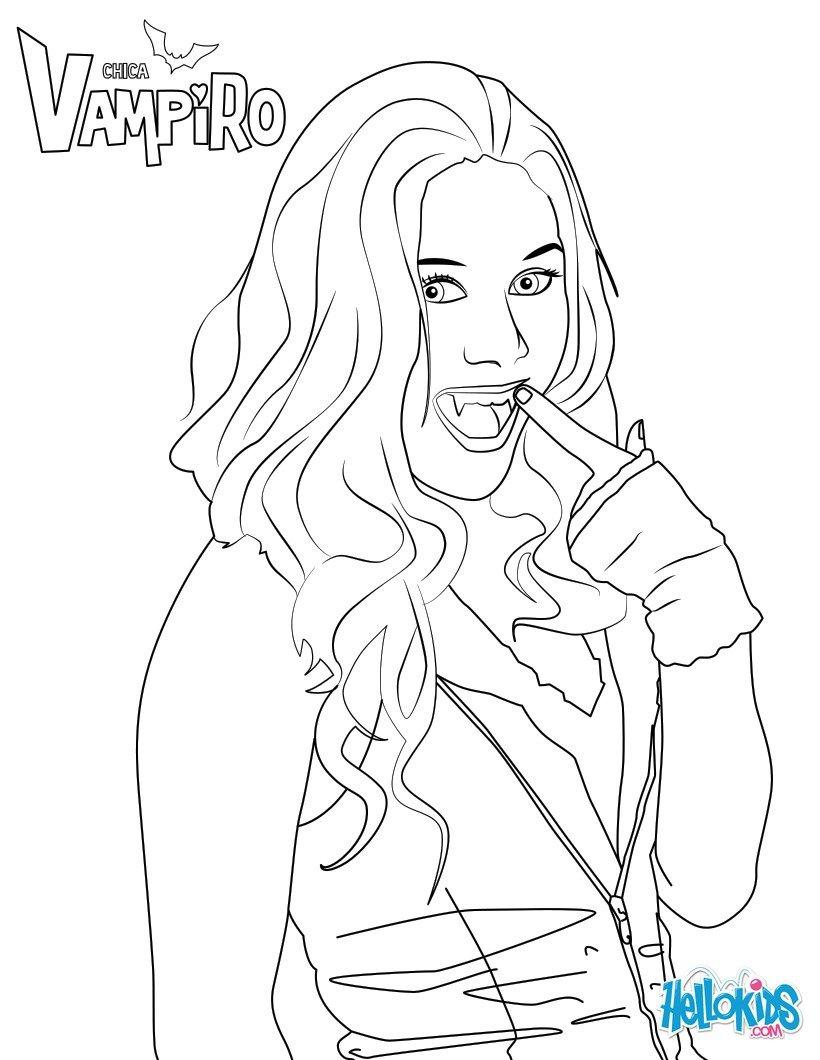 Chica vampiro activit s pour enfant la f e biscotte - Coloriage chica vampiro ...