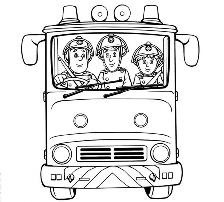 sam pompier activitees enfant a imprimer