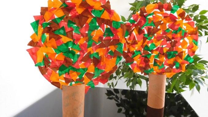 un arbre d 39 automne activit bricolage la f e biscotte. Black Bedroom Furniture Sets. Home Design Ideas