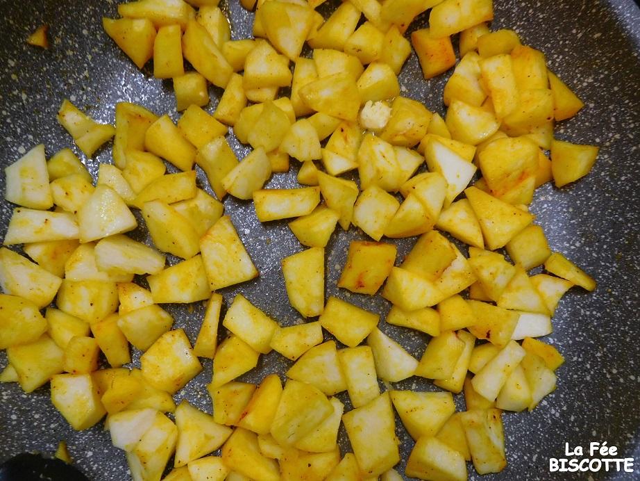 Quatre-quarts pommes safran