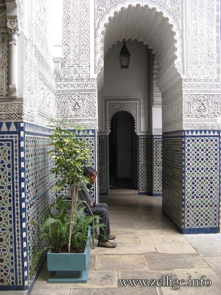Zelliges du Palais du Méchouar ou Mahkama du Pacha, Casablanca, Maroc, XXe s