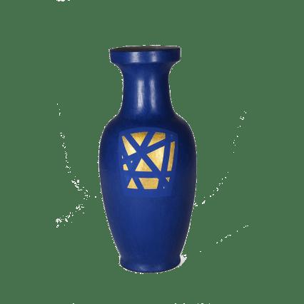 Vase en porcelaine peint en Napoleonic Blue + Clear wax