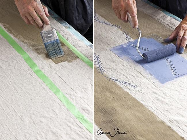 les techniques de peinture sur tissus avec la Chalk Paint Annie Sloan