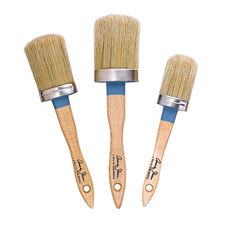 assortiment de trois pinceaux ovales annie sloan
