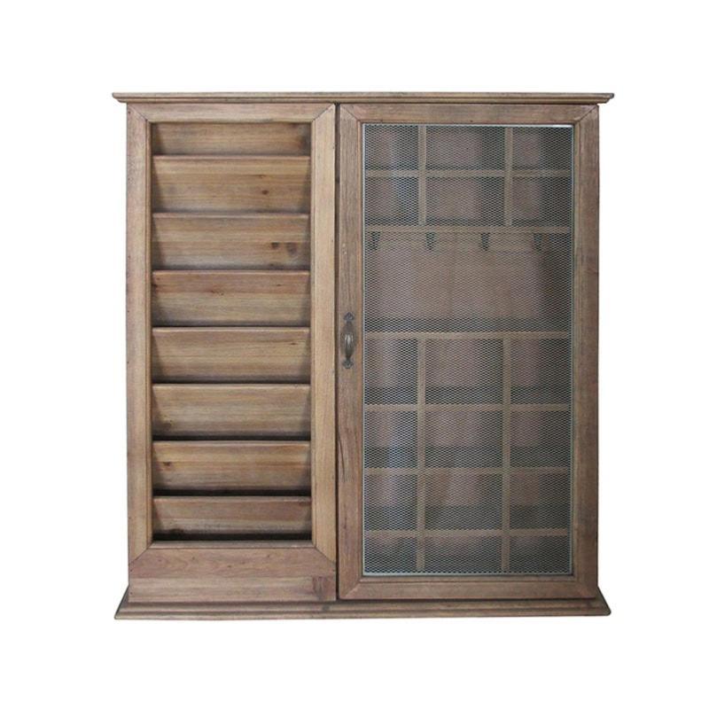 Armoire à courrier en bois