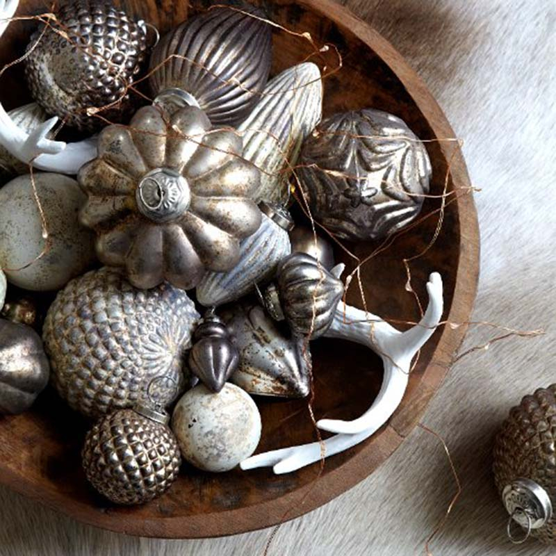 Decoration Noël boule blanche 3cm