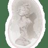 Plâtre buste femme