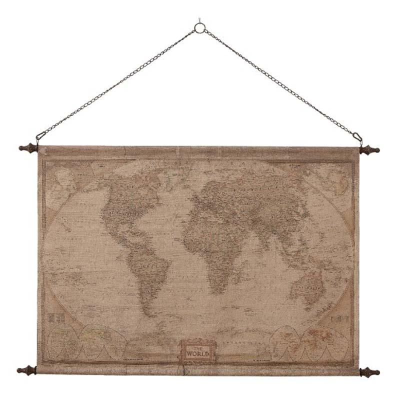 Planisphère Globetrotter de décoration