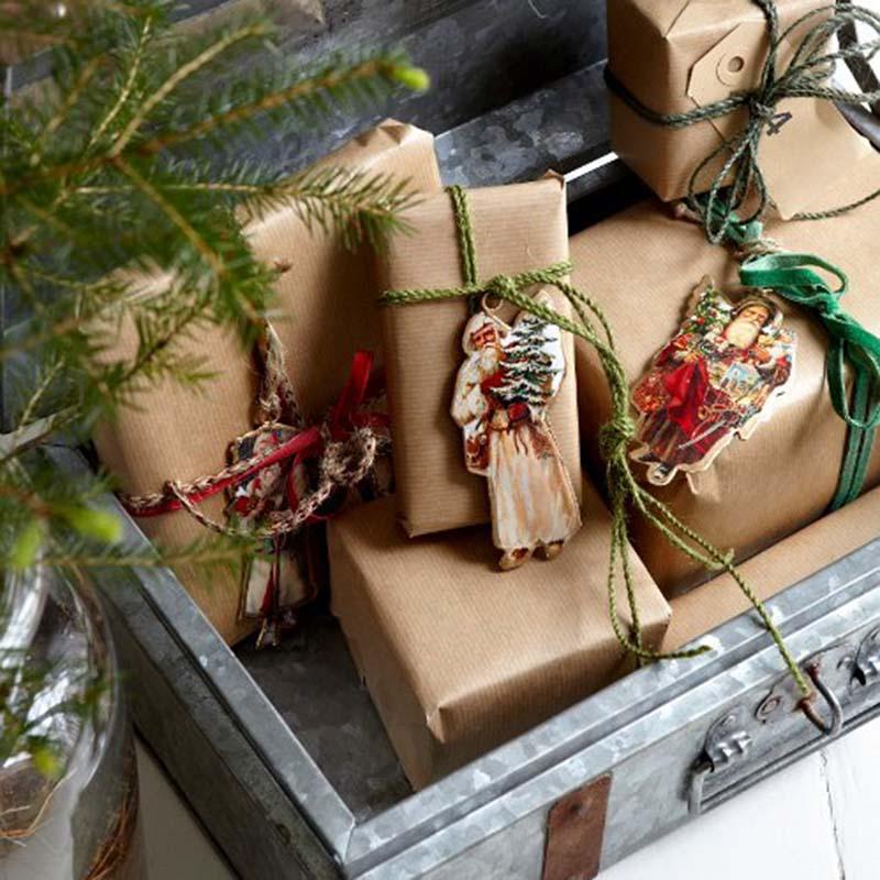 Chromo Noël en métal MEMORIES Ange Blanc