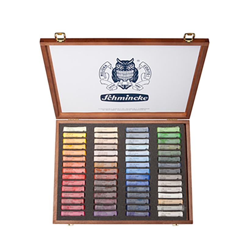 Coffret en bois contient 60 bâtons de pastels secs assortis