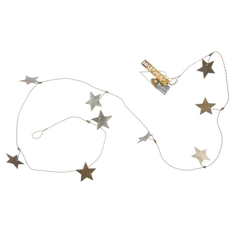 Guirlande d'étoiles dorées