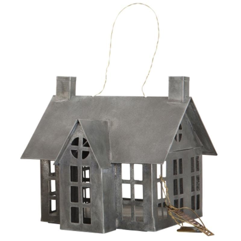 Maison en zinc photophore