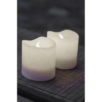2 bougies Led en cire blanche TENNA
