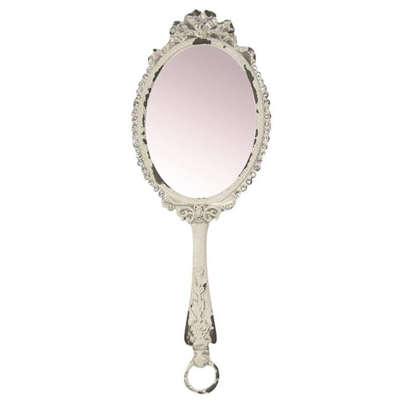 Miroir à main romantique