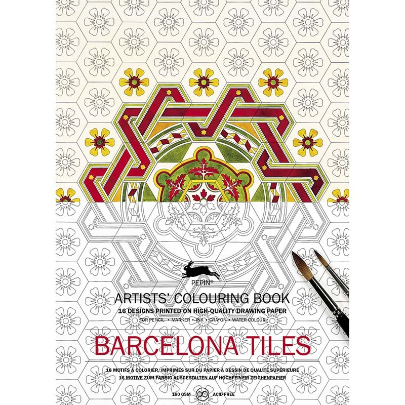 Coloring book BARCELONA TILES