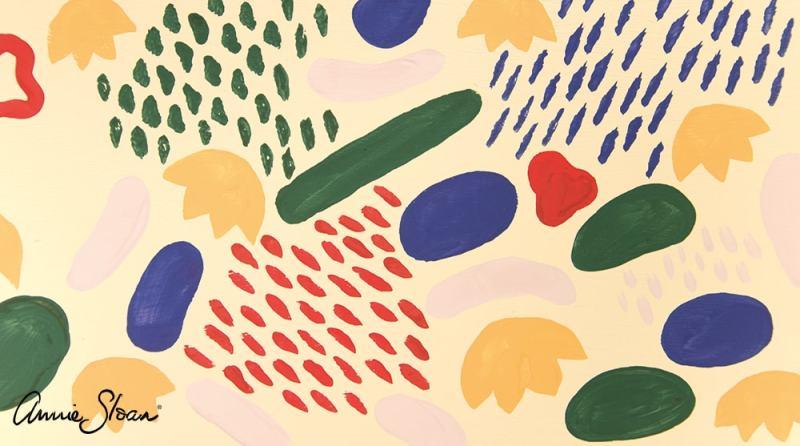 motif réalisé grâce à la boite de pinceaux de détail Annie Sloan