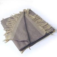 Plaid laine cashmere gris clair