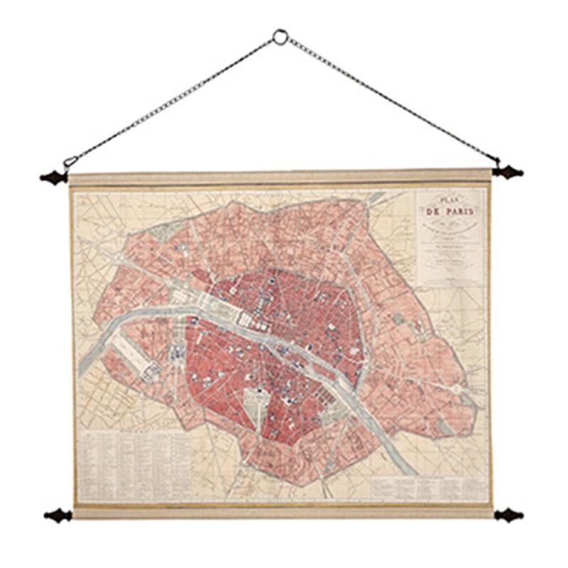 Plan de Paris de décoration