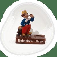 Plâtre publicitaire vintage bière HEINEKEN