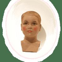 Tête d'enfant en plâtre