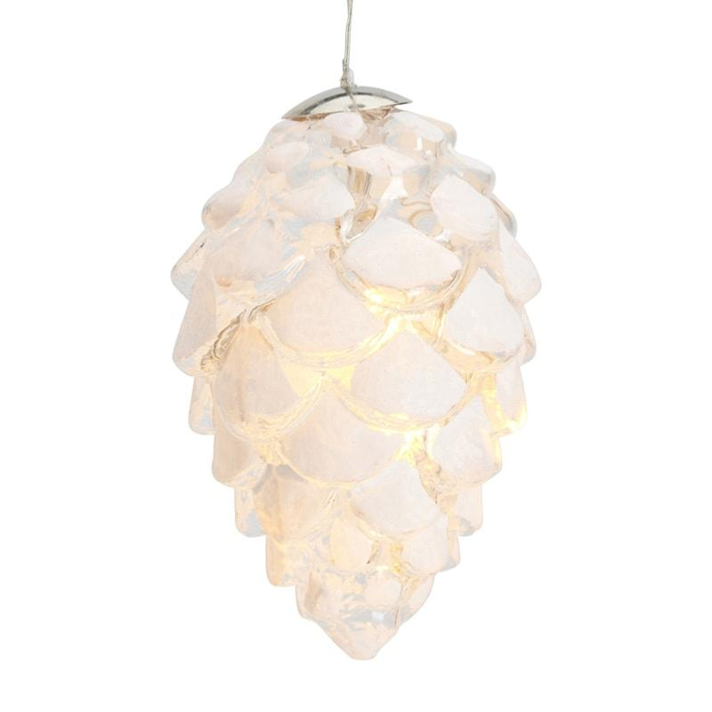 Boule lumineuse pomme de pin CELINA