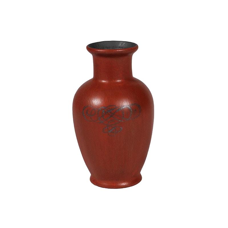 Vase céramique peint en couleur rouge fatal par La Fée Caséine