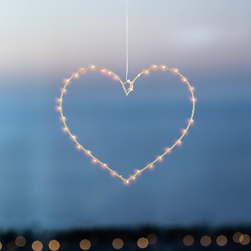 Coeur lumineux suspension Liva Heart Gold La Fée Caséine