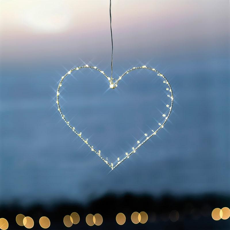 Coeur lumineux suspension Liva heart La Fée Caséine