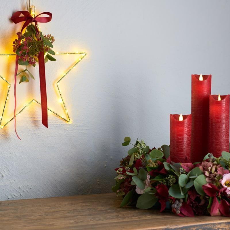 Etoile et bougies composition Liva Sara Scarlet La Fée Caséine