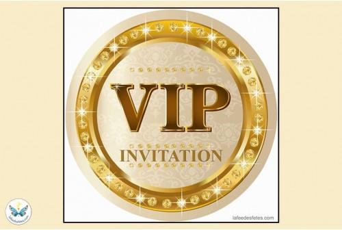 6 invitations v i p
