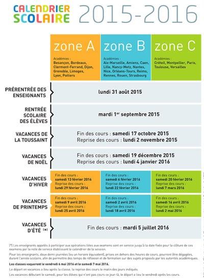 Calendrier des vacances scolaires 2017 2017 toutes les zones for Dates vacances scolaires 2014 2015