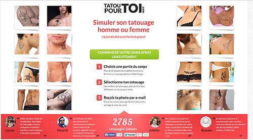Simulation tatouage homme ou femme en ligne
