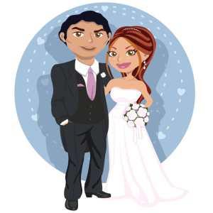 mariage dessin homme femme