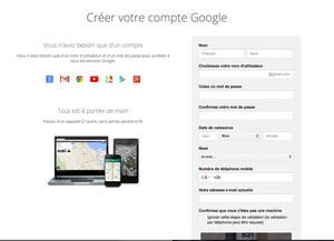 ouverture compte gmail