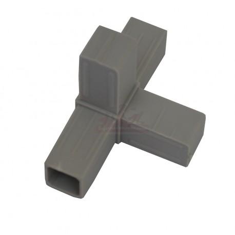 raccord 4 directions pour tube aluminium