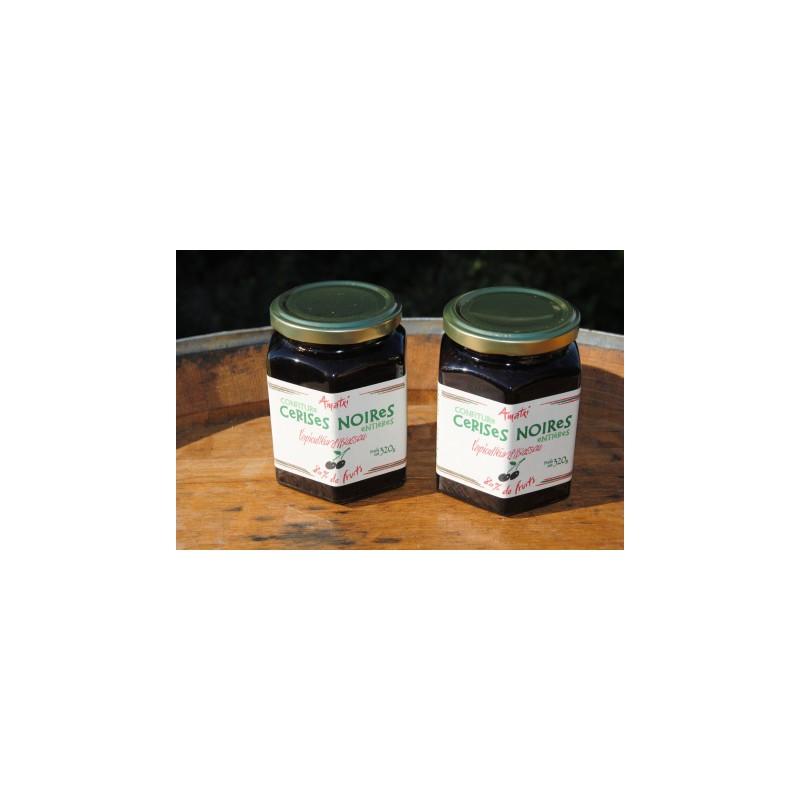 confiture cerise noire itxassou bocal 320 g la ferme du foie gras