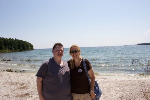 Dave and Christine at Cana Island