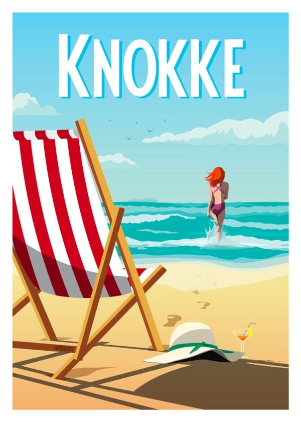 Affiche Belgique cote belge Knokke
