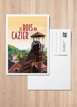 Carte Postale Charleroi Marcinelle le bois du cazier mineur
