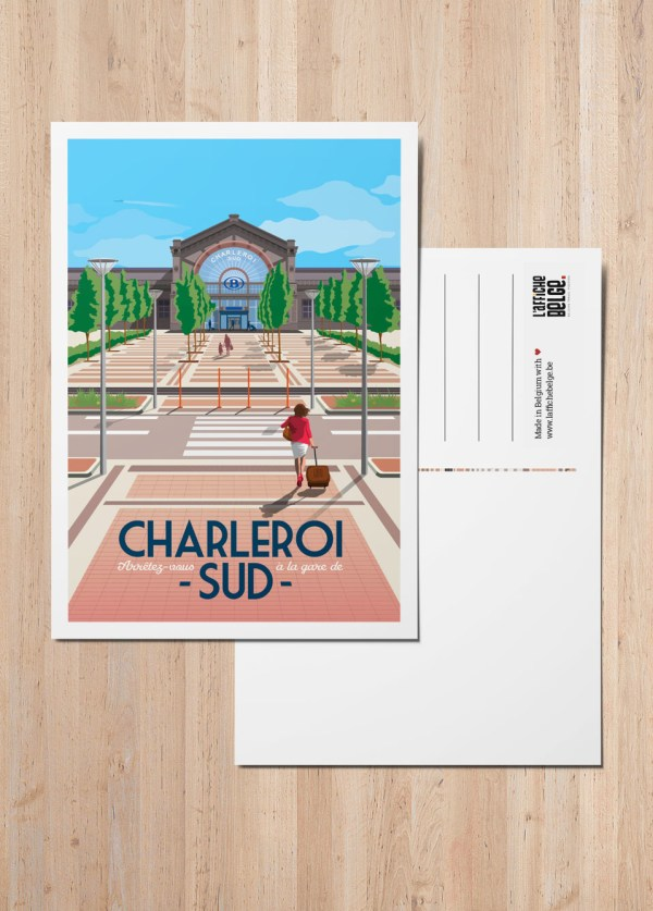 Carte Postale Belgique Charleroi Gare
