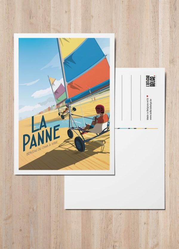 Carte postale Belgique cote belge La Panne
