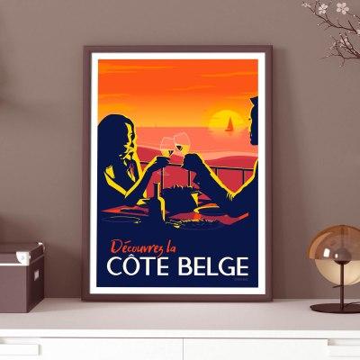 Affiche Belgique La Cote Belge