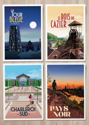 Cartes Postales Collection Pays Noir