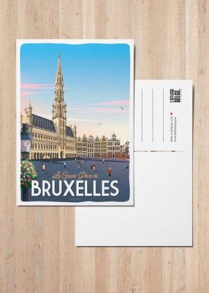 Carte postale La Grand Place de Bruxelles